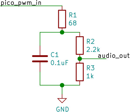 RC filter circuit with potential divider